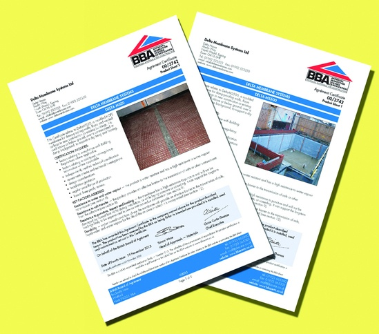 500 Micron Damp Proof Membrane Sheet : Damp proofing duo qualities recognised by bba delta