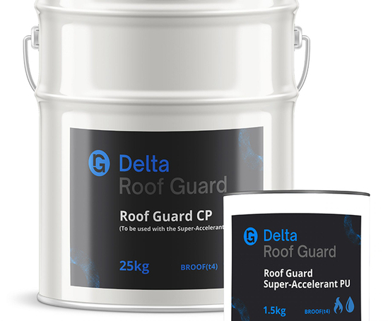 New Roof Guard cold-applied liquid waterproofing system