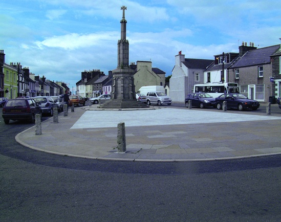 Light grey granite and Caithness paving, Wigtown