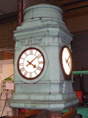 Refurbished clock tower