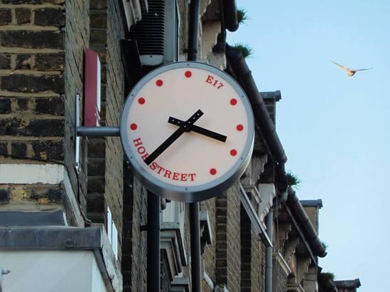 Bespoke illuminated stainless steel drum clock