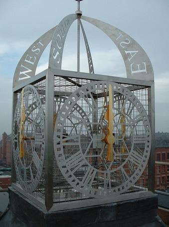 Bespoke stainless steel cube clock