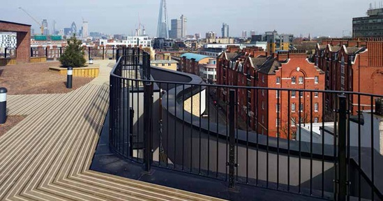Library Street roof deck uses Citideck® decking