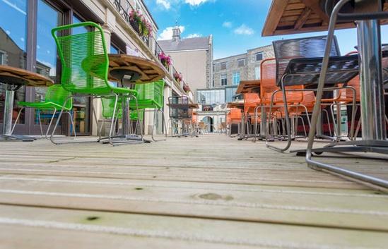 Decking - Nando's outdoor eating area