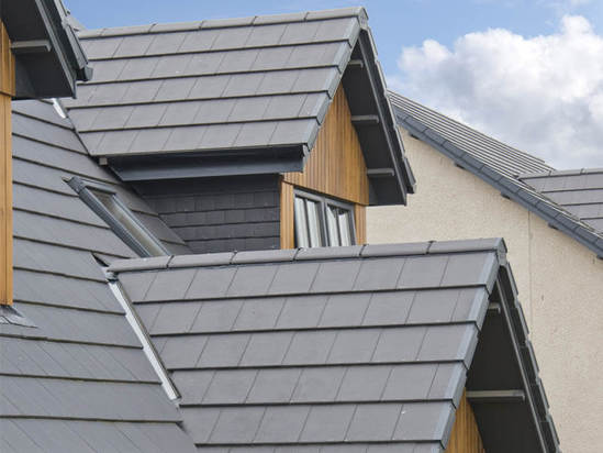 Edgemere interlocking roof slates