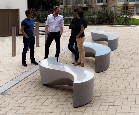 Wave Bench is designed to be used in groups