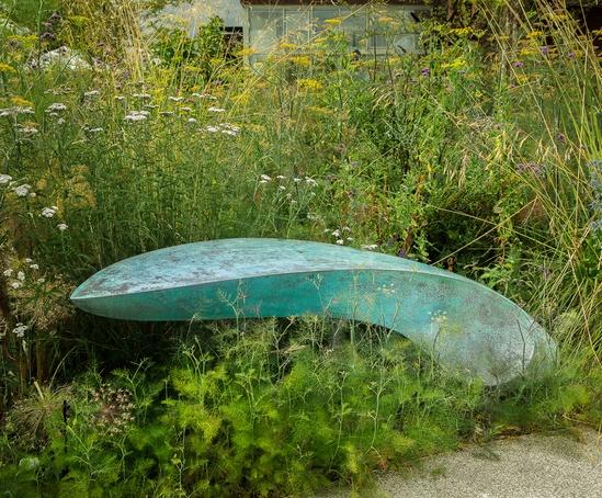 Logan contemporary outdoor bench