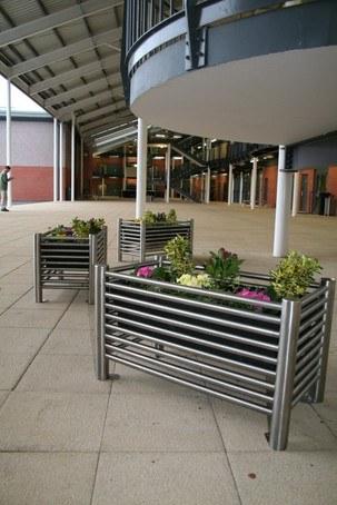 Baseline BLPL stainless steel rectangular planters