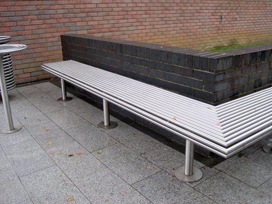 Benchmark street furniture CL005 bespoke bench