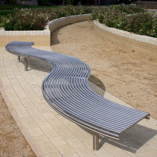 Centerline CL007 curved steel bench