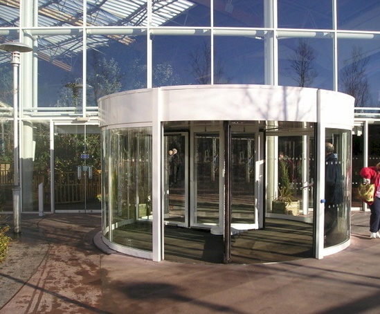 Tormax automatic revolving entrance system at Centre Pa