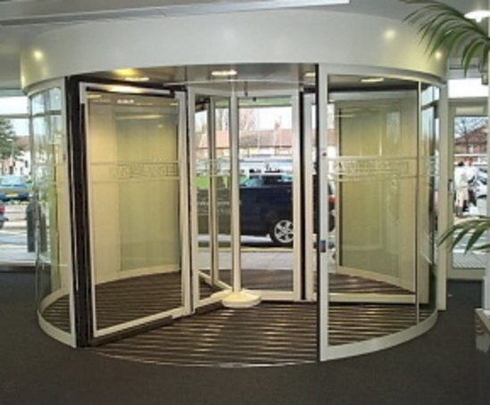 Tormax automatic revolving entrance at Aintree Hospital