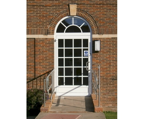 Art deco style swing door w. iMotion automatic operator