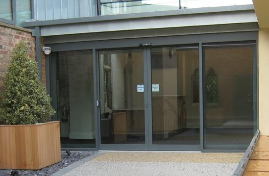 Tormax automatic sliding doors - Rugby School