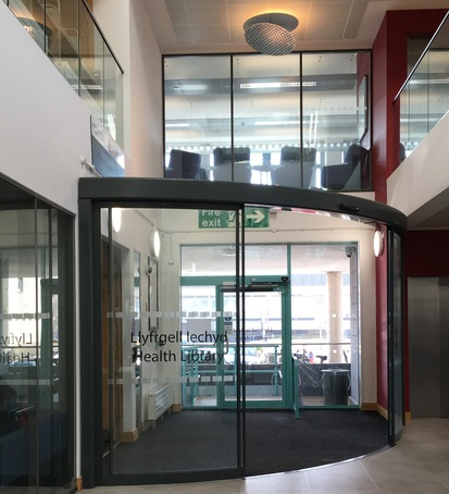 Automatic door system for Cochrane Building library