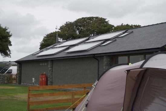 Trawsdir Caravan Park now boasts solar thermal panels