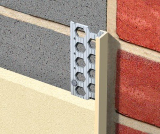 PVCu stop beads for thin coat / acrylic render