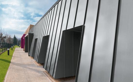Angled Standing Seam -  prePATINA graphite-grey