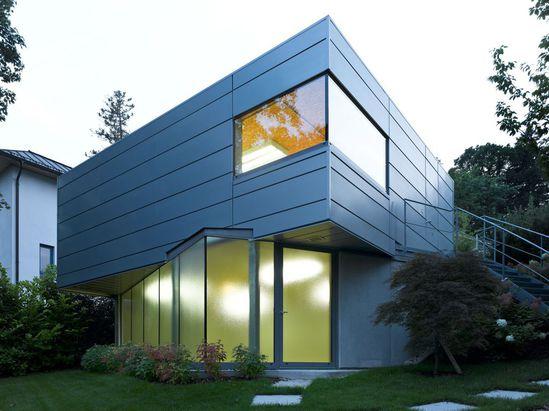 Cassette zinc facade system manufactured by Rheinzink