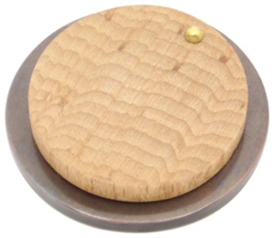 Arbor 37016 escutcheon in beech and imitation bronze