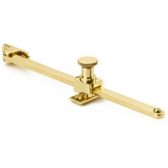 62202 sliding stay in polished brass