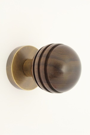 Arbor 34301 mortice knob in rosewood and antique brass