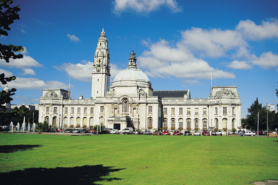 Door furniture supplied to Cardiff City Hall
