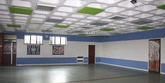 CLOUDSORBA® acoustic ceiling panels for church hall