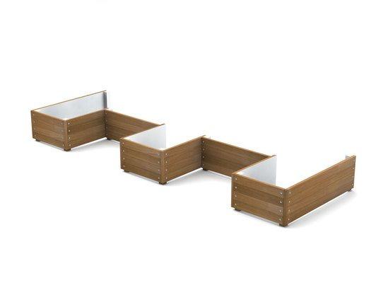 Grenadier design timber planter walling