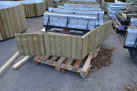 Swithland planter walling in FSC mix 70% redwood