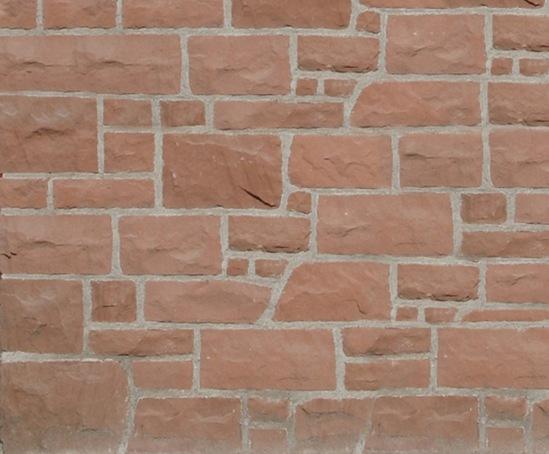 Red random walling stone