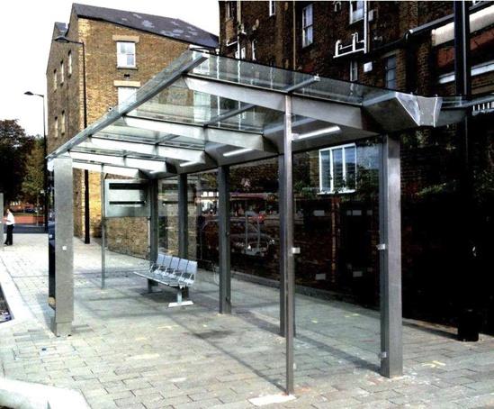 Prefabricated Bus Shelter : Apex modular bus shelter trueform esi external works