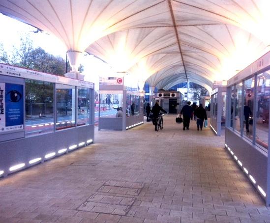 Bespoke passenger shelters, Stratford Bus Station