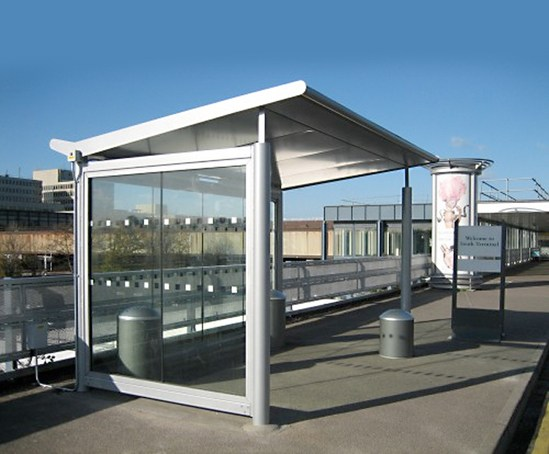 Smoking Shelters Product : Bomb blast resistant smoking shelters trueform esi