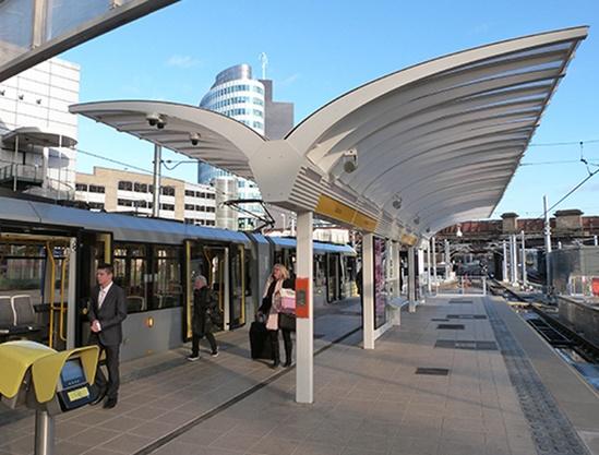 Gullwing Platform Railway Station Canopy Trueform Esi