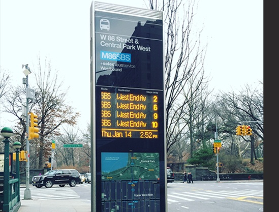 Digital SBS wayfinding totem - New York City
