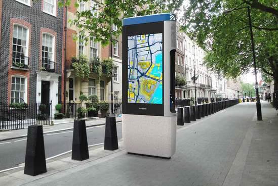 Smart digital information hub – London