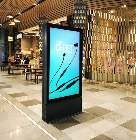 Digital advertising pods for Westfield Stratford