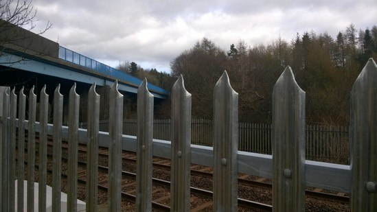 Lochrin® Palisade securing Network Rail sites
