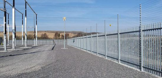 'W' section security profile 3mm palisade fencing