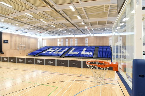 Nor-Ray-Vac radiant heaters for sports centre, Hull