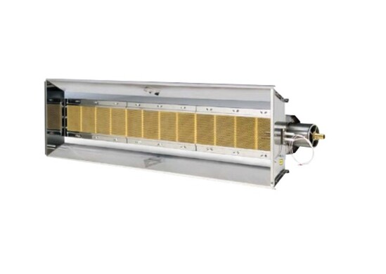SCR-ECO is a gas fired radiant plaque heater