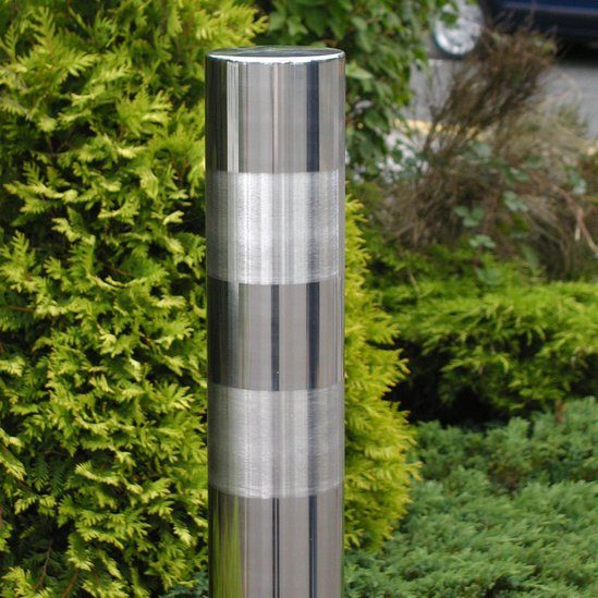 Brushed Satin Bands Stainless Steel Bollard