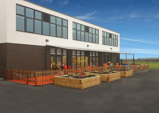 Canopy provides shelter for pupils