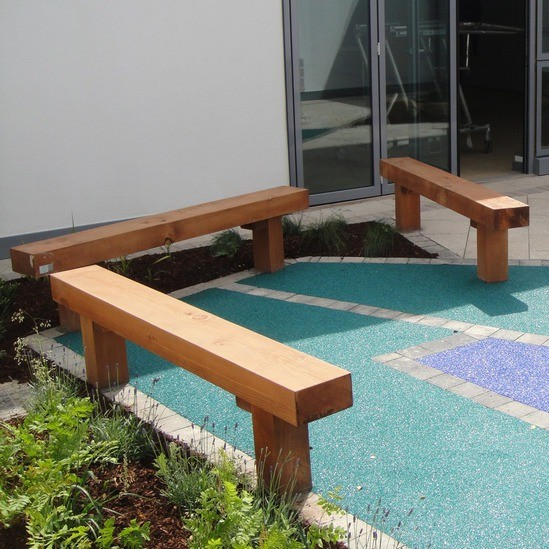 Solid timber benches