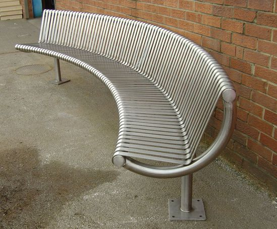 County Range - stainless steel curved seat