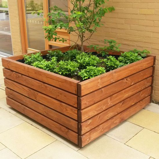 Springwell Range - timber planter