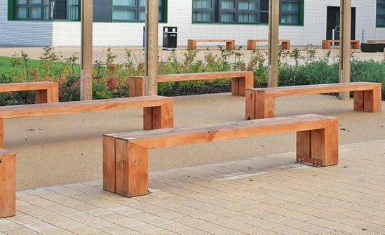 Sentinel Range - timber bench