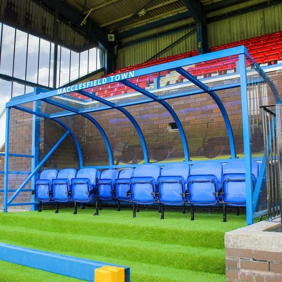 Sports dugout shelter for Macclesfield Football Club
