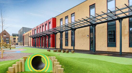 Extensive canopy - Robert Clack Lymington Fields School
